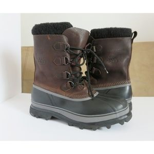 Sorel Caribou Sherpa and Leather Fall Duck Boots